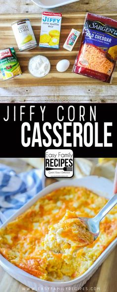 Jiffy Corn Casserole- This is THE BEST side dish ever. Especially for Thanksgivi… Jiffy Corn Casserole- This is THE BEST side dish ever. Especially for Thanksgiving! Corn Pudding Recipes, Corn Recipes, Side Dish Recipes, Mexican Food Recipes, Beef Recipes, Jiffy Recipes, Corn Pudding Jiffy, Bratwurst Recipes, Veggies