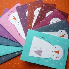 Simple handmade Christmas/Holiday cards Toys for Tots store. Diy Christmas Cards, Winter Christmas, Handmade Christmas, Christmas Ideas, Karten Diy, Snowman Cards, Theme Noel, Winter Cards, Christmas Activities