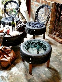 decoracao pneus 12 Decorando com Pneus