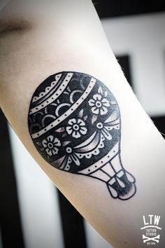 air balloon tattoo - Szukaj w Google