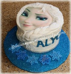 Elsa Frozen Cake with Wrap around braid