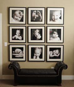 40 Creative Photo Wall Display Ideas to Decor Your Room Photowall Ideas, Photo Arrangement, Hanging Pictures, Home And Deco, Photo Displays, Display Photos, Home Projects, Picture Frames, Sweet Home