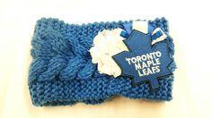 Toronto Maple Leafs Headband Maple Leafs Hair by BadCatCraft