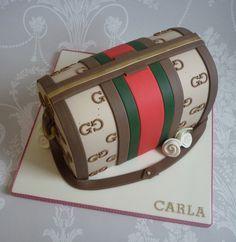 images of pocketbook cakes | Gucci handbag birthday cake | Flickr - Photo Sharing!