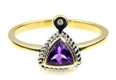 14K Amethyst Diamond Ring. Get the lowest price on 14K Amethyst Diamond Ring and other fabulous designer clothing and accessories! Shop Tradesy now