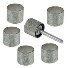 "6pc 1/2"" Diamond Sanding Drums - Fits Dremel - can be used on glass, tile, and stone. Made by ProTool"