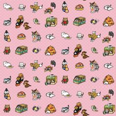 neko  fabric by katie_starr on Spoonflower - custom fabric