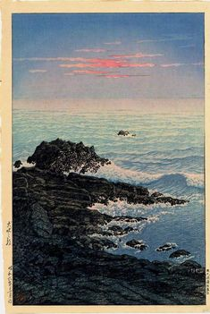 Kawase Hasui, Morning of Inubo cape, 1931