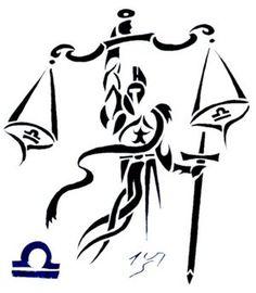 Zodiac Tattoo Designs With Image Zodiac Symbol Picture Tribal Libra Tattoo 9