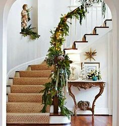 Staircases decorated.