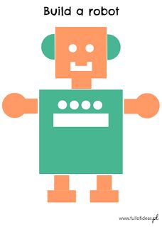 Build a robot free printables