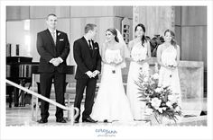 Josh and Cara's wedding ceremony at the Church of the Gesu in Cleveland by Corey Ann Photography.