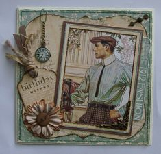 Card: Male Birthday Card - Graphic45 A Lady's Diary