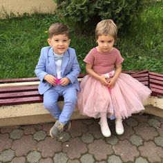 Boy and girl at a wedding!