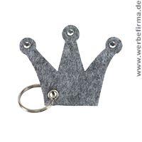 Filz Schlüsselanhänger Castle - Kundengeschenk in Form einer Krone