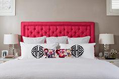 Perfect Home: Cabeceiras cor de rosa    Pink Headboards