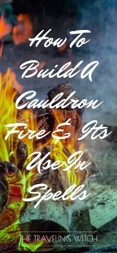 ARTICLE: How To Build A Cauldron Fire & Its Use In Spells // Intrepid Crow. Epsom salts and rubbing alcohol fire in a cauldron. Magick Spells, Wicca Witchcraft, Candle Spells, Candle Magic, Eclectic Witch, Practical Magic, Cauldron, Book Of Shadows, The Conjuring