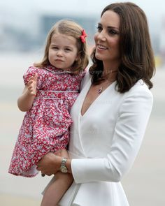 Catherine, Duchess of Cambridge and Princess Charlotte.