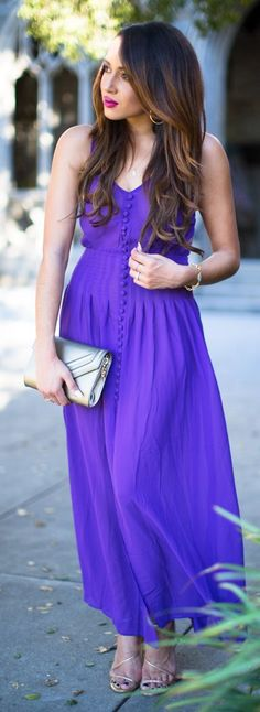 Perfectly Purple Maxi Dress by A Keene Sense Of Style