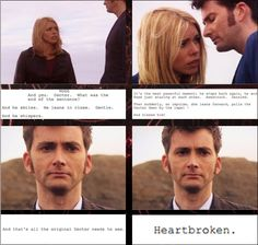 The scene direction during 10's final farewell to Rose - :'(