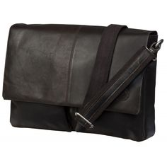 """Leather messenger for PC & MacBooks up to 16"""" - Hunter dark. How cool is that?"""