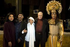 "Phylicia Rashad, ""Lion King"" choreographer Garth Fagan, Debbie Allen, James Earl Jones and Shaun Escoffrey (as Mufasa), back stage at London's (UK) Lyceum Theatre for the 10th Anniversary celebration of ""The Lion King.""  Oct 2009"