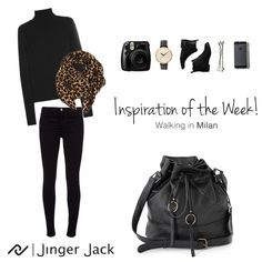 Inspiration of the Week with Jinger Jack MILAN in Black! Leather Handbags, Leather Bag, Cotton Thread, Bucket Bag, Milan, Ootd, Inspiration, Collection, Black