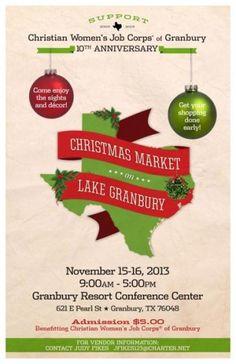 Christmas Market on Lake Granbury Granbury, TX #Kids #Events