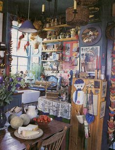 over the board, i can see my preferences degrading from the clean white into my natural state of chaos Kitchen! Bohemian Kitchen, Bohemian Decor, Hippie Kitchen, Estilo Kitsch, Deco Cafe, Interior Decorating, Interior Design, Diy Interior, Decorating Ideas