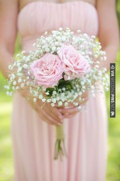 DIY rose and baby's breath bouquet, wrapped in monogrammed burlap | Live View Studios | Bridal Musings | CHECK OUT MORE IDEAS AT WEDDINGPINS.NET | #weddings #weddinginspiration #inspirational