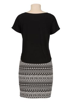 short sleeve ethnic print dress - maurices.com