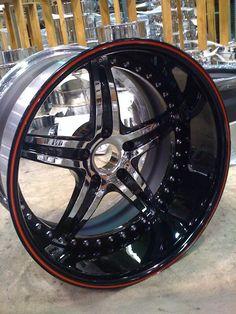 asanti af144 af 144 5 star wheels black spoke brushed then painted black lip lips