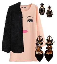 """Untitled #1038"" by lauraafreedom ❤ liked on Polyvore featuring Girly, LE3NO and Aquazzura"