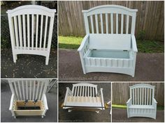 New Baby Cribs Repurpose Diy Projects 59 Ideas Refurbished Furniture, Repurposed Furniture, Furniture Makeover, Painted Furniture, Furniture Projects, Wood Projects, Diy Furniture, Rustic Furniture, Wicker Furniture