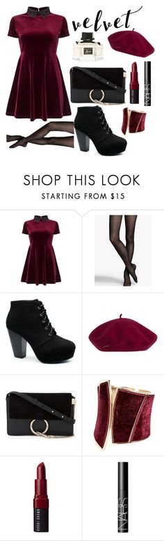 """""""Untitled #226"""" by style-queen-18 ❤ liked on Polyvore featuring Miss Selfridge, Express, Chloé, GUESS by Marciano, Bobbi Brown Cosmetics, NARS Cosmetics and Gucci"""
