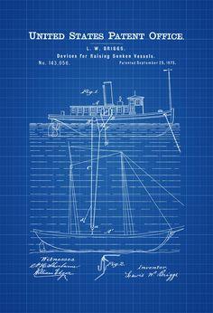 Periscope patent 1920 periscope blueprint vintage submarine salvage ship patent 1873 patent print vintage nautical naval art sailor gift malvernweather Choice Image