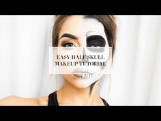 EASY HALF SKULL HALLOWEEN MAKEUP TUTORIAL I COCOCHIC - YouTube