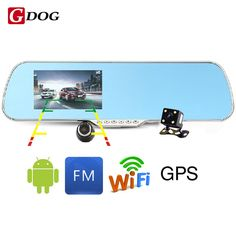 Touch Android 4.4 ROM Dual lens FHD1080P camera WiFi GPS parking car dvrs Rearview mirror video recorder Car DVR <3 AliExpress Affiliate's Pin.  View the item in details now by clicking the VISIT button