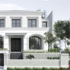 The Effective Pictures We Offer You About Cultural Architecture buildings A quality picture can tell Architecture Design, Classic Architecture, Facade Design, Residential Architecture, Exterior Design, Cultural Architecture, White House Architecture, Villa Design, Classic House Exterior