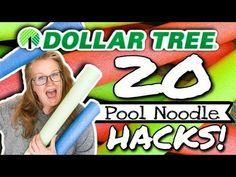 ⭐️ 20 AMAZING DOLLAR TREE POOL NOODLE LIFE HACKS ⭐️ - YouTube Dollar Store Hacks, Thrift Store Crafts, Dollar Stores, Pool Noodle Crafts, Life Hacks Youtube, Pool Hacks, Pool Noodles, Lucky Day, Dollar Tree Crafts
