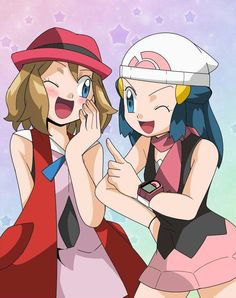 Dawn and Serena ♡ I give good credit to whoever made this