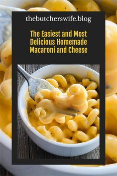 The BEST Homemade Macaroni and Cheese- made with simple ingredients and no fancy cheese! Fancy Cheese, How To Make Cheese, Main Dishes, Side Dishes, Monte Cristo Sandwich, White Cheddar Cheese, Cheesy Sauce, American Cheese, Fast Easy Meals