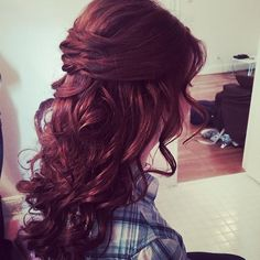 Half Up Half Down Hairstyles for Prom. Found out how I'm going to do my hair for Prom!!(: