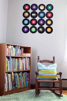 Make a record wall. | 19 Ways To Reuse Vinyl Records