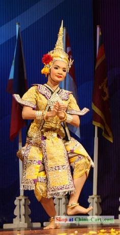 Asian Thailand Dance Costume