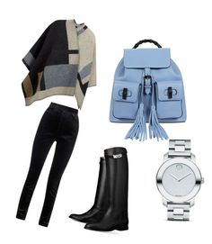 Untitled #46 by whatscooljay on Polyvore featuring polyvore, fashion, style, Burberry, Haider Ackermann, Hermès, Gucci, Movado and clothing