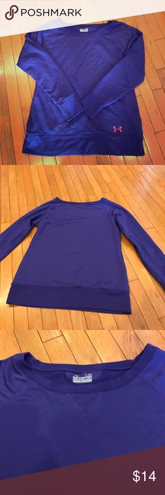 Semi Fitted UA crew neck sweatshirt Semi fitted UA semi fitted crew neck pre loved sweatshirt Under Armour Tops Sweatshirts & Hoodies