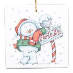 Cute Snowman Ceramic Ornament - image gifts your image here cyo personalize Snowman Clipart, Christmas Clipart, Christmas Printables, Christmas Pictures, Winter Clipart, Christmas Graphics, Christmas Rock, Christmas Snowman, Christmas Holidays