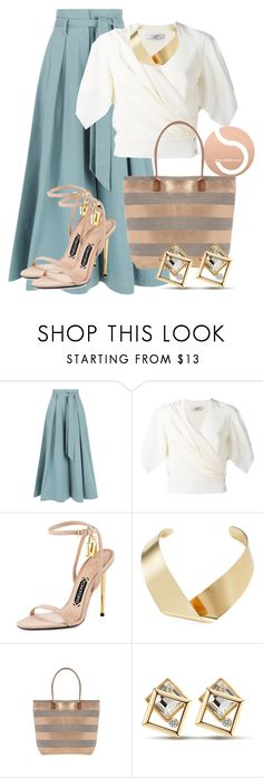 """""""STYLD   Comfy culottes!"""" by blinking-beauty ❤ liked on Polyvore featuring Temperley London, Lanvin, Tom Ford and Kenneth Jay Lane"""
