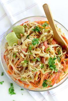 Thai Coconut Noodle Salad:16 Cold Noodle Recipes to Eat on Warm Days via Brit + Co